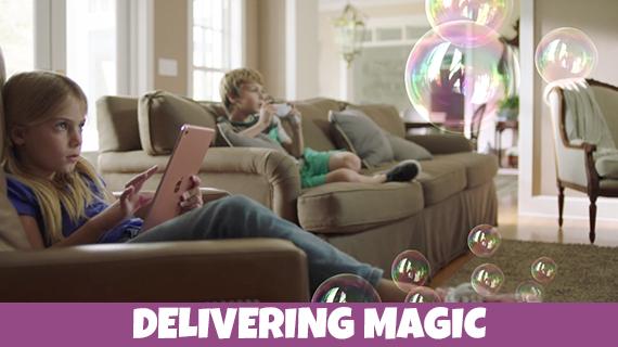 Gazillion Bubbles Delivering Magic